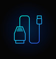 blue car scan tool icon vector image