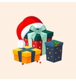 Christmas Presents and Hat vector image