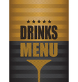 drinks menu background vector image