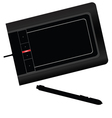 graphic tablet black vector image