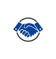 hand shake deal business finance logo vector image