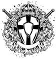 lions swords board corona vector image