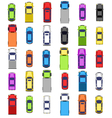 Multicolored car collection isolated on white vector image