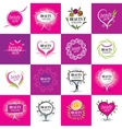 set of logos salons vector image