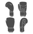 set of with boxing gloves vector image