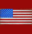 usa american flag painted on old wood plank vector image