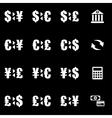 White bank icon set vector image