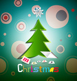 Christmas Card Xmas with Tree vector image vector image