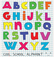 colorful funny kids alphabet vector image
