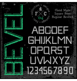 Handmade retro font beveled vector image