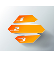 Orange origami paper with place for your own text vector image vector image