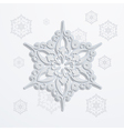 Paper snowflake vector image
