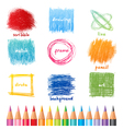 csribble icons in color vector image vector image