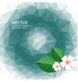 polygonal pattern with flowers vector image
