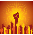clenched fist held in protest concept vector image