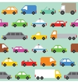 Pixel art traffic seamless pattern vector image