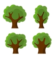 Set of Abstract Flat Style Trees vector image