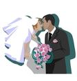 Wedding couple 04 vector image
