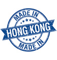 made in Hong Kong blue round vintage stamp vector image