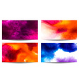 Abstract Watercolor Background Set vector image