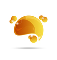 abstract yellow speech bubble isolated - vector image