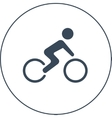 bicycle racer icon vector image