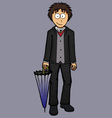 Boy in english suit classic confident vector image