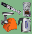 domestic electric appliance vector image