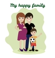 Happy family friendship adoptive parents vector image