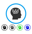 headache rounded icon vector image