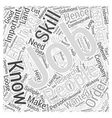 JH most wanted job skills Word Cloud Concept vector image