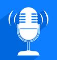 microphone symbol vector image