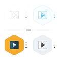 play icon 4 design vector image