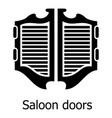 saloon door icon simple black style vector image