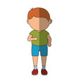 stand up boy cartoon vector image