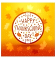 Thanksgiving day emblem vector image