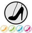 high heel shoe icon vector image
