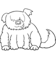 Sheepdog cartoon for coloring vector image vector image