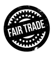 Fair Trade rubber stamp vector image