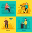 colorful university courses square concept vector image