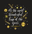 new year lettering hand drawn christmas greeting vector image
