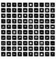 100 traffic icons set grunge style vector image