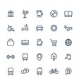 line icons set for maps or navigation apps vector image