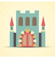 Color flat castle icon for web and mobile vector image