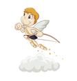hurrying angel vector image