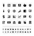 Retina business and finance icon set vector image vector image
