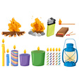 Set of things that causes fires vector image