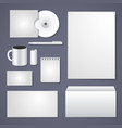 Empty corporate identity template vector image vector image