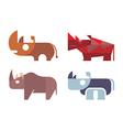 rhino icons vector image vector image
