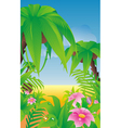 tropical paradise vector image vector image